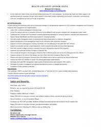 Sales Coordinator Sample Resume Safety Skills Resume Sample Health And Safety Coordinator Resume