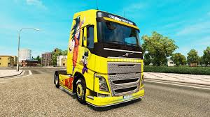 volvo lorry skin dragon ball z for volvo trucks for euro truck simulator 2