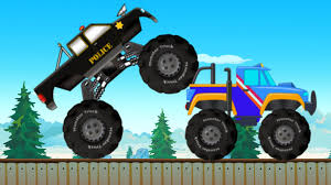 monster truck police chase police car youtube