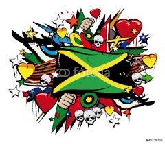 jamaica flag jamaican graffiti flag street art illustration wall jamaica flag jamaican graffiti flag street art illustration wall sticker