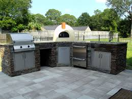 Stacked Stone Outdoor Fireplace - outdoor kitchen fireplace outdoor fireplace summer kitchen stone