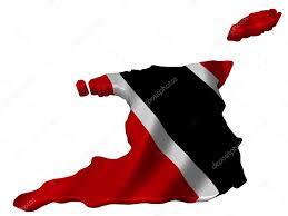 Flag For Trinidad And Tobago Flag And Map Of Trinidad And Tobago U2014 Stock Photo Sav Up 5247360