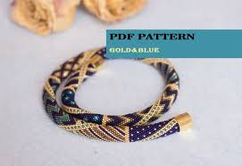 bracelet gold patterns images Pdf pattern for beaded crochet necklace seed bead crochet etsy jpg