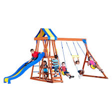 backyard discovery thunder ridge all cedar playset 36214com the