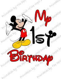 mickey mouse 1st birthday my birthday mickey mouse image use as clip or print