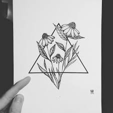 art drawing flowers hipster sketch triangle my body is my