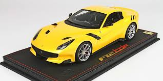 yellow f12 kysoho die cast model bbr 1 18scale f12 tdf yellow no