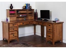 Vintage Home Office Furniture Vintage Home Office Furniture With L Shaped Desk Combined Teak
