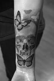 skull with butterflies bryangvargas