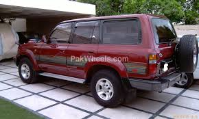 red land cruiser toyota land cruiser vx 4 7 1996 for sale in lahore pakwheels