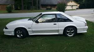 mustang 1990 for sale 3rd white 1990 ford mustang gt foxbody 5 0 v8 for sale