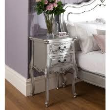 Antique Nightstands With Marble Top Bedroom Nightstand Silver Nightstand Vintage Looking Bedside