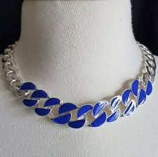 blue necklace images Jewelry howards silver and blue necklace poshmark jpg