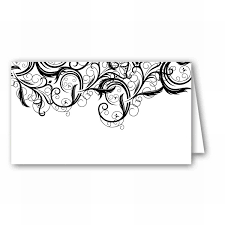 fancy vine bliss place cards paperstyle