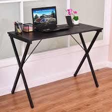 Walmart Writing Desk by Costway Computer Desk Wood Metal Pc Laptop Table Writing Study
