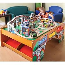 imaginarium train table 100 pieces wooden train table toy train center