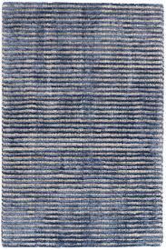 cut stripe indigo hand knotted wool viscose rug dash u0026 albert