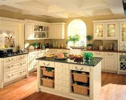Kitchen Island Decorative Accessories Mesmerizing Kitchen With Rustic White Cabinets And Island And