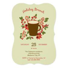 brunch invitation christmas brunch invitations announcements zazzle