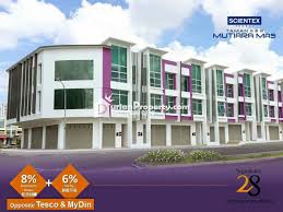 shop office for sale at taman mutiara mas scientex skudai for
