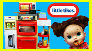 Little Tikes Toaster Little Tikes Cook N Store Play Kitchen With Baby Alive Doll U0026 Play