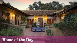home courtyard santa barbara spanish style hacienda pours on the charm la times