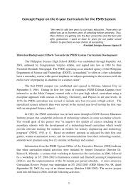 1 concept paper on the 6 year curriculum higher education