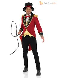 deluxe male ringmaster costume mens circus fancy dress lion