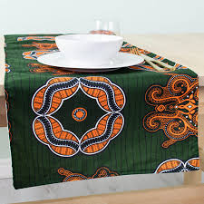 forest green table linens african print table runner table runner kitchen and dining