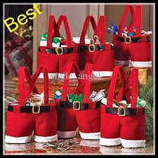 new santa pants bag elf style christmas creative decorations