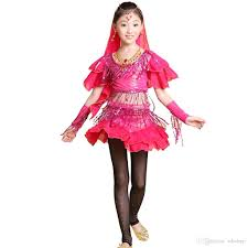 2015 promotion kids girls belly latin dance halloween costumes set