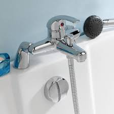 premier eon bath shower mixer dty304 deck mounted chrome premier eon single lever bath shower mixer tap deck mounted chrome 0