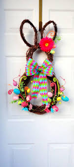 easter bunny wreath diy easter decorations 17 ideas how to make a easter door