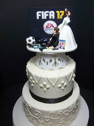 gamer wedding cake topper wedding cake topper fifa 17 modest dress buzz gamer