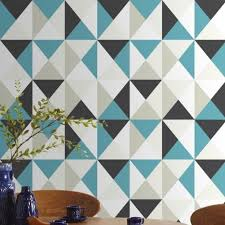 papiers peints cuisine leroy merlin papier peint intissé polygone bleu maison papiers peints