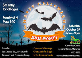 best music for halloween party cairns events event details halloween sk8 party