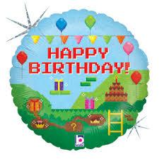 minecraft balloons mine craft balloons 18 happy birthday pixel helium foil balloons