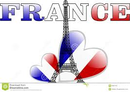 French Flag Eiffel Tower The Vector Eiffel Tower And France Flag Heart Stock Vector Image
