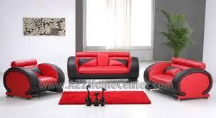 firestone red black 2 tone bonded leather furniture sofa living