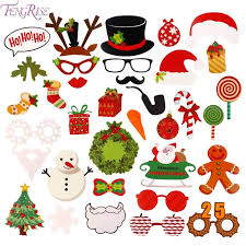christmas photo booth props fengrise photo booth props christmas decorations mask merry