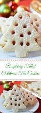raspberry filled christmas tree cookies recipe decorated