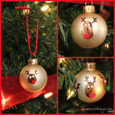 reindeer thumbprint ornaments vs the boys