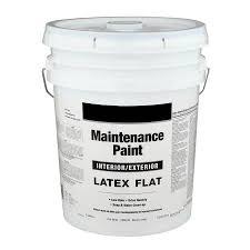 shop valspar 5 gallon size container interior flat white latex