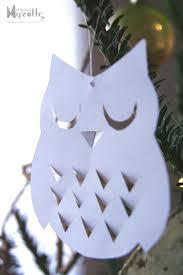 chouette en papier découpé hibou chouette owls pinterest owl