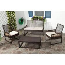 Patio Seating Furniture by Hampton Bay Belleville Padded Sling 4 Piece Patio Seating Set