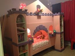 girls bed crown wood bunk beds transformed into a castle with pink paint mdf