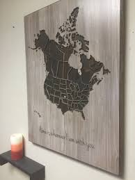 United States Map With States by Wood Us And Canada Map Wall Art Carved United States Map Us Map