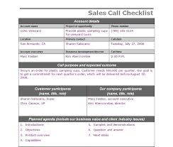 Sales Call Report Template Excel by Sales Call Checklist Sales Call Template