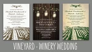 winery wedding invitations home vintage rustic wedding invitations
