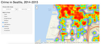 Chicago Neighborhood Map Crime by Crime Density In Seattle Nyc Data Science Academy Blognyc Data